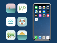 App Icons for a Summer Camp