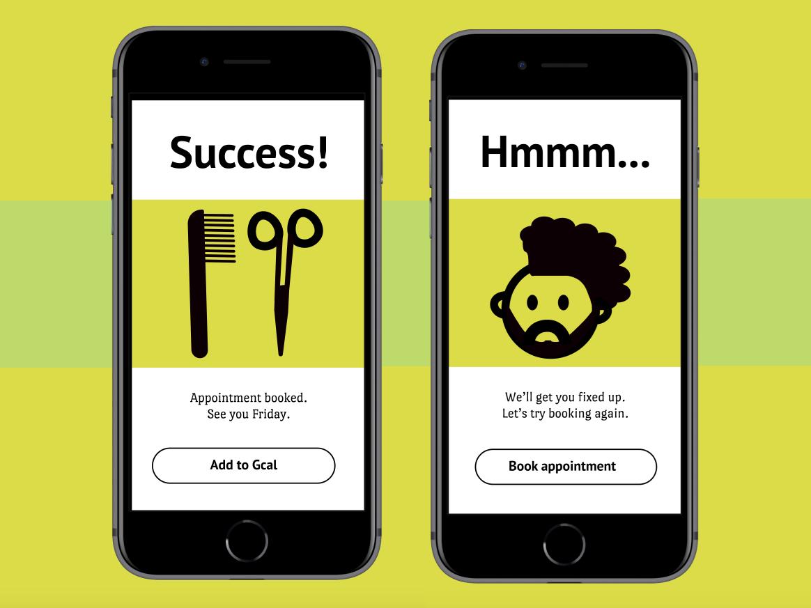 Success and Error Messaging ui illustration dailyui011