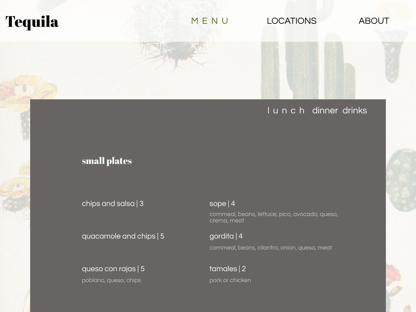 Restaurant Menu design ui menu restaurant dailyui030