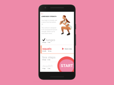Workout App workout of the day workout app workout android ui design dailyui dailyui041 illustration