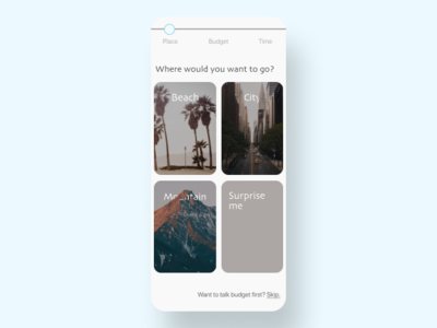 Vacation Planner | DailyUI064