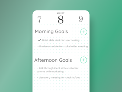 Schedule UI | DailyUI071
