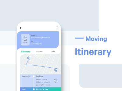 Moving Itinerary | DailyUI079