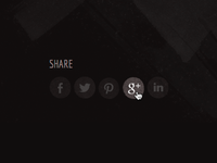 Personal branding update - share buttons