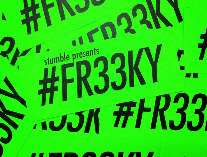 #FR33KY Vol. 1 stumble cd artwork dj graphic design