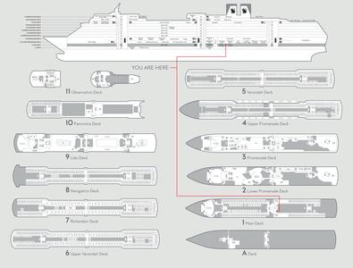 Nieuw Amsterdam Wayfinding 2020 wayfinding cruise ship information design graphic design