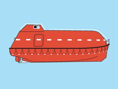 HAL Koningsdam Life Boat Launching Poster maritime illustration cruise ship information design graphic design