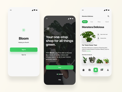 Bloom UI product design product ecommerce app ecommerce user experience user interface ux design ui design mobile mobile app mobile app design concept app concept app ui application design application app design app