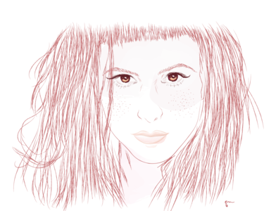 Hayley illustration art design portrait girl woman logodesign illustration