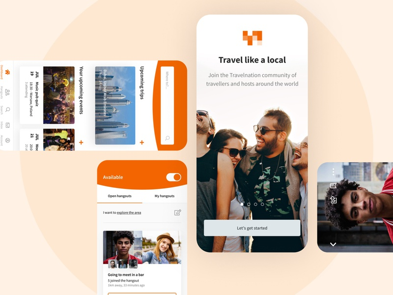 Traveling Mobile App Part 2 uxdesign ux uidesign ui travelingapp traveling travel stepwise modern mockup mobile app mobile appdesign app