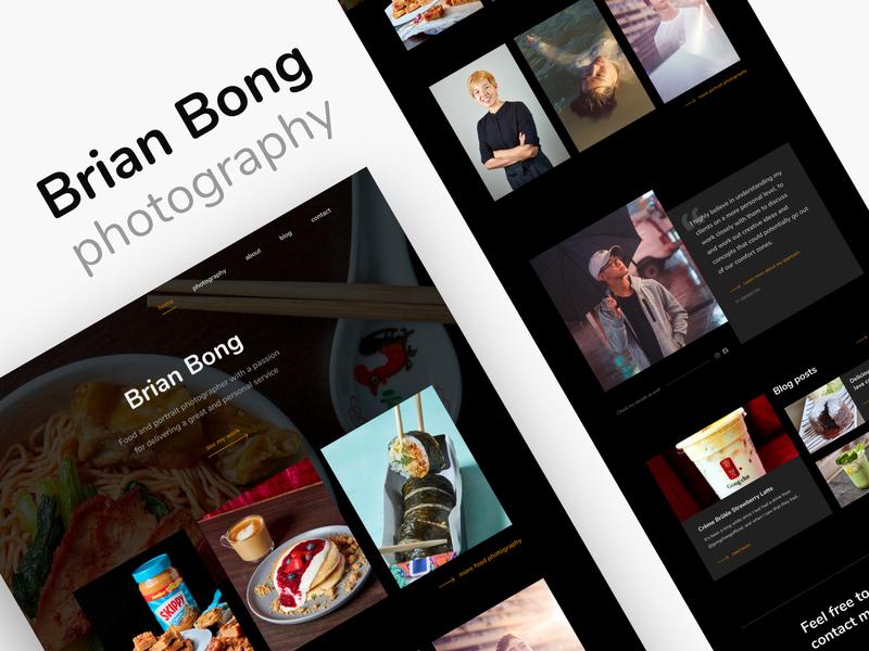 Brian Bong Photography - Landing Page A design photographer pictures portrait black minimal landing page ux ui portfolio photography