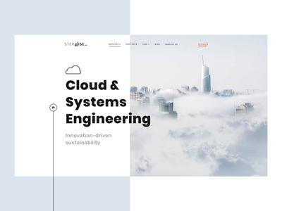 Stepwise Google Cloud Platform Service Subpage software services platform google cloud website ux ui landing landingpage