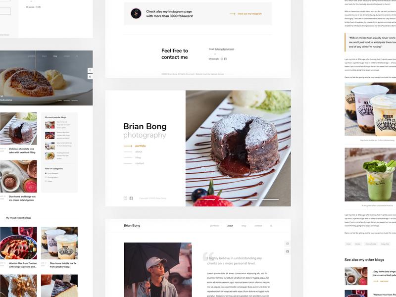 Brian Bong Photography Website singapore food website ux ui design minimal portfolio photographer photography