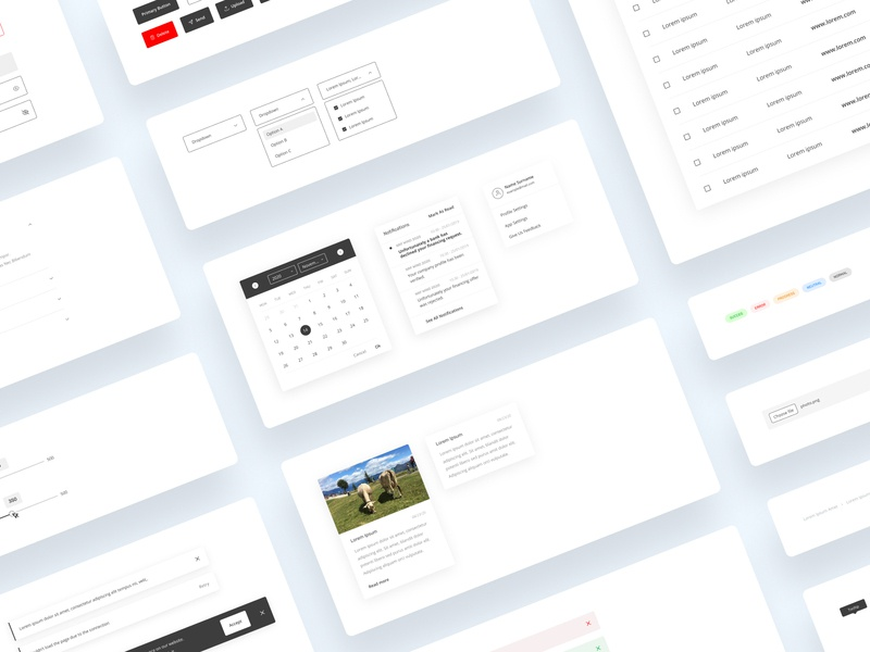 Stepwise Components Library designsystem system design ui ux desktop app buttons styleboard styleguide library components