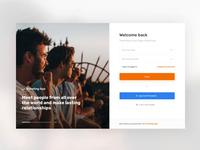 Sign Up - Tips & Tricks designtips tricks tips onboarding webdesign ux ui form registration sign up orange traveling travel friends desktop app account