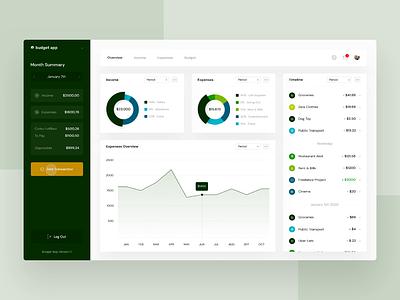 Financial Overview - Part 2 savings money income fintech finance expenses desktop dashboard budget banking app