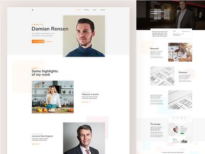 First post :), my portfolio website landing page clean ux ui webdesign portfolio landingpage landing