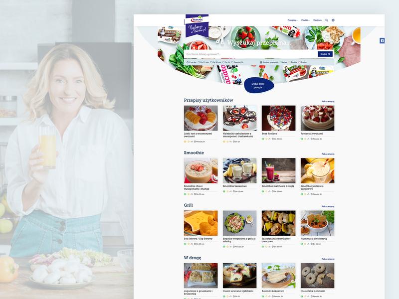 Recipe website 'Najlepsze w kuchni' website webdesign ux ui recipes polish recipe website recipe