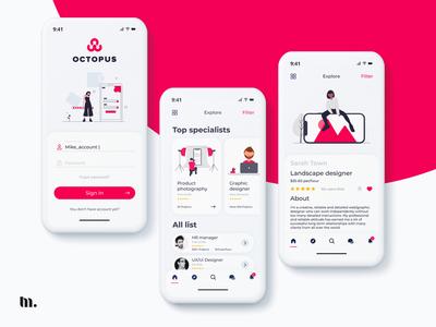 Octopus search | UX/UI design mobile application