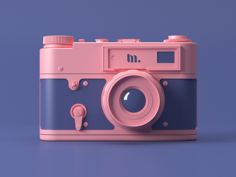 Photo camera | 3D design clean creative brand and identity flat minimal branding simple design 3dcamers 3d art design concept 3d design 3ddesign 3d minimal logo brand illustration identity dribbble clean branding