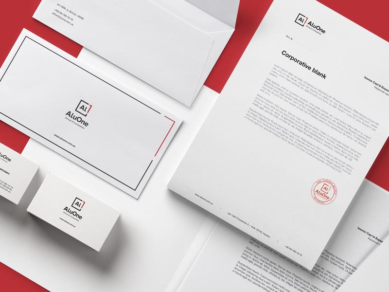 AluOne | Corporate identity logotypedesign minimal logo corporate branding corporate brand identity dribbble clean creative brand and identity minimal branding design minimal brand logo identity branding