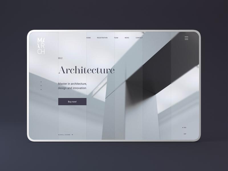 March | UX/UI design 3d websites webheader header design clean website concept uidesign ui  ux homepage design home screen webdesign web app typography ux design ui