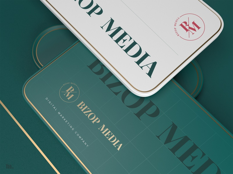 Bizop Media | Logo design corporate brand identity design brand and identity 3ddesign minimal branding brand identity branding typography logo