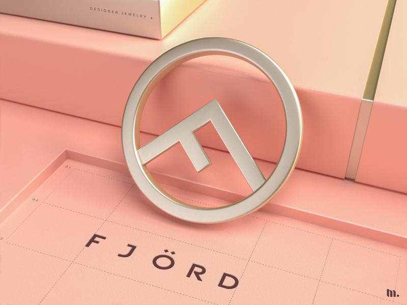 Fjord | Logo design 3d design brand and identity 3ddesign minimal branding identity brand typography logo branding