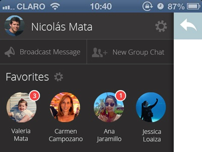 Whatsapp Redesign - Sidebar whatsapp clean redesign flat sidebar