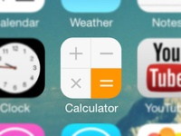 iOS Calculator Redesign