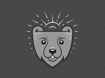 Shop the Bear Collection sketch drawing gray sun poster print apparel shop animal bear design vector illustration