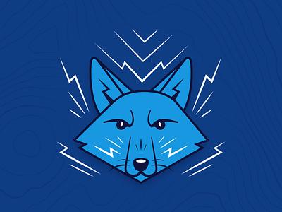 Shop the Fox Collection sketch drawing blue lightning poster print apparel shop animal fox design vector illustration