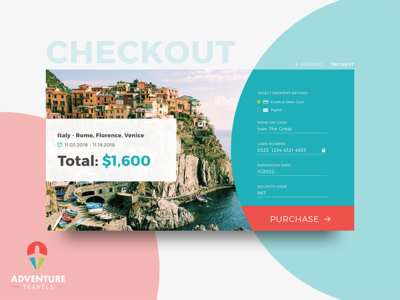 UI Challenge 02 - Credit Card Checkout