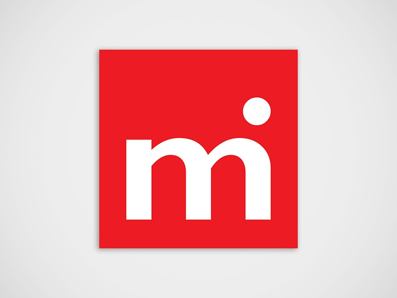 M International  logo branding international typography identity brand tile import export red typographic logo logo design