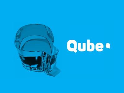 Qube Ice Branding, Packaging logo design brand identity motion animated logo packaging ice qube branding