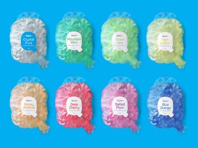 Qube Ice Branding, Packagin  package design brand identity label qube packaging flavoured package logo ice design branding