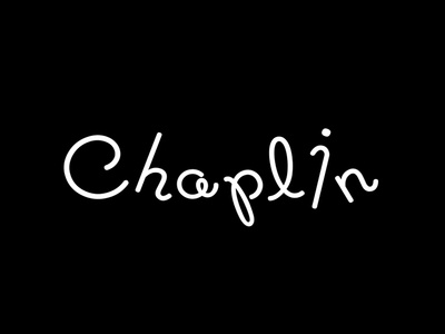 Charlie Chaplin Logotype  stick movie famous branding brand typography charlie chaplin logotype logo identity visual type