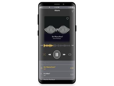 Samsung S9 Music App