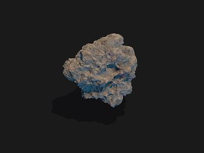 Procedural Asteroid asteroid illustration cinema4d cinema 4d motion design motion animation 3d c4dart