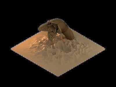 Tribute to dune worm david lynch sand dunes dune c4d motion design cinema 4d 3d cinema4d isometric