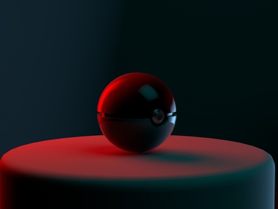 Pokeball motion illustration cinema4d cinema 4d