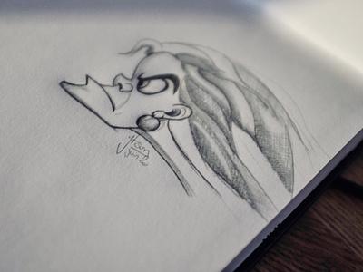 Cruela sketch face portrait cruella disney character draw sketch