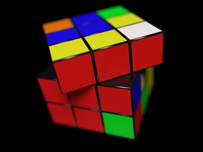 rubix cube design octanerender octane render cinema 4d illustration rubix cube props 3d cinema4d