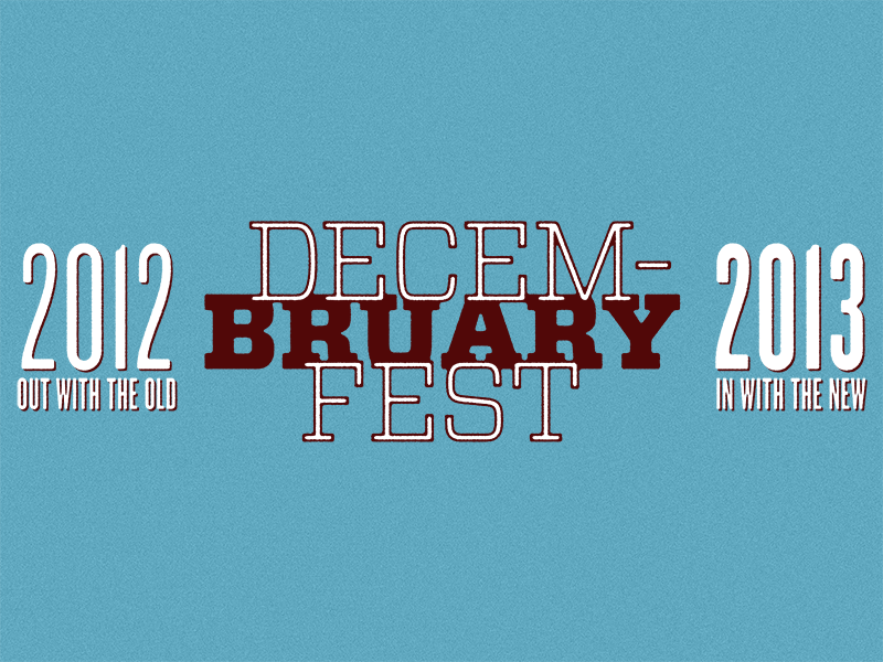 Decem-Bruary Fest ye olde fart homebrew beer logo label oktoberfest december january 2012 2013 graphic design