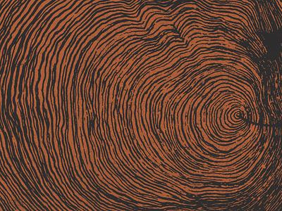 W O O D apparel tshirt brushed brush tree rings wood