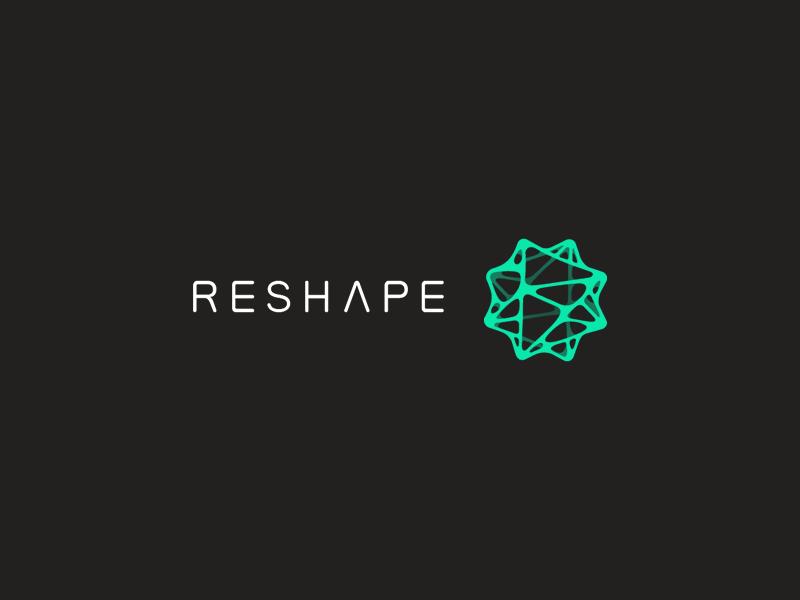 Reshape logo logo capsid tundra font voronoi