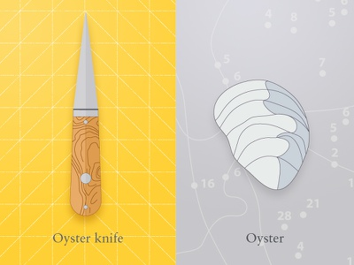 Oyster & knife (wip) oyster oyster knife knife beach relaxing sharp food