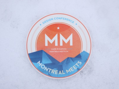 MM Stickers Printed sticker montreal texture circle mountain design conference community photoshop illustrator patch vinyl