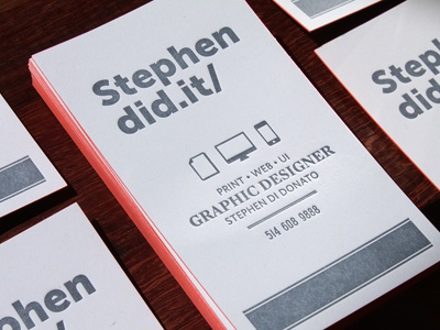 Personal business card letterpress cards pantone uncoated pantone personal identity