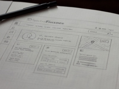 Dashboard sketch sketch pencil drawing web user map personal personal information bank finance